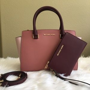 Michael Kors medium Selma Satchel &Matching wallet